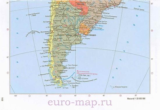 Карта южной америки политическая